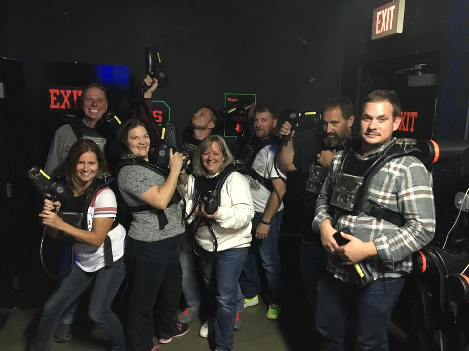 A-Action pest control team at lazer tag